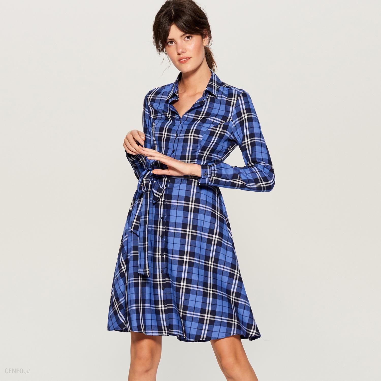 bf2ec6d1ff Mohito - Koszulowa sukienka w kratę - Wielobarwn - Ceny i opinie ...