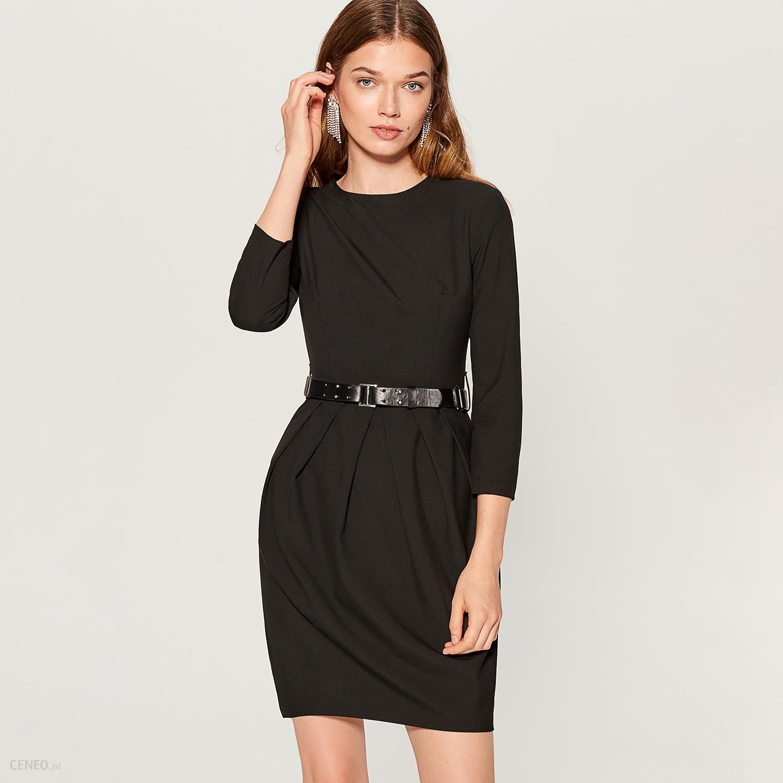 f691edb028 Mohito - Tulipanowa sukienka z paskiem - Czarny - Ceny i opinie ...