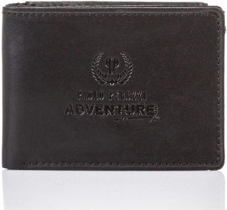 9a7f60f9eed55 Super cienki portfel męski paolo peruzzi skórzany czarny - Ceny i ...