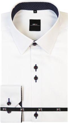 VidaXL Męska koszula biała w niebieskie paski rozmiar XXL