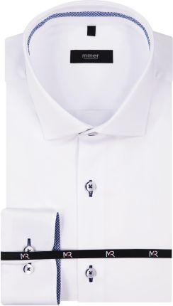 Koszule męskie Niebieska koszula męska WÓLCZANKA