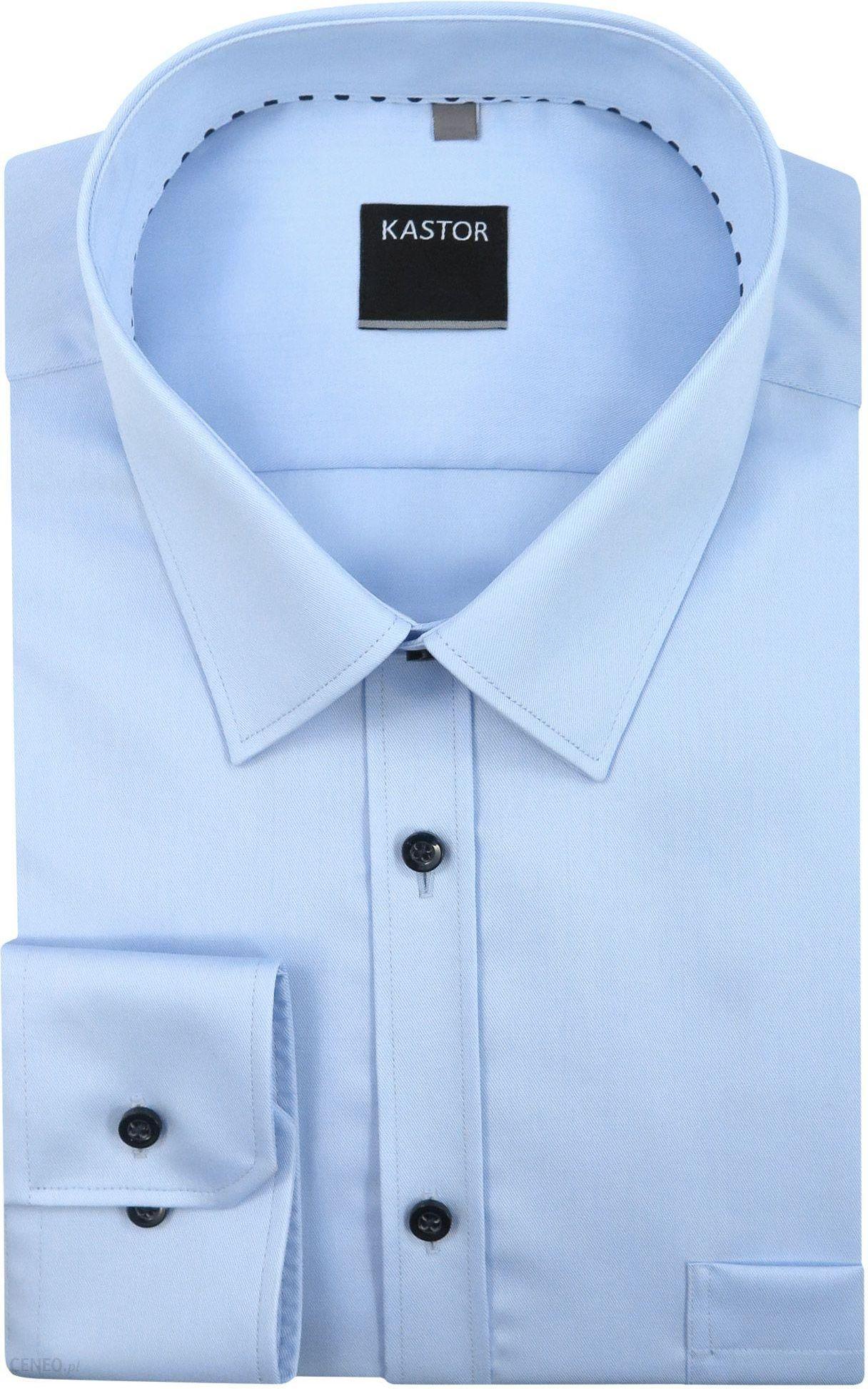 4c872df3aaecc7 Kastor - Koszule męskie Błękitna koszula męska z kieszonką K59 - zdjęcie 1