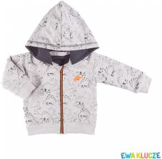 b8be0878910e36 Bluza niemowlęca bawełniana chłopięca z kapturem DINO 74-98 Ewa Klucze