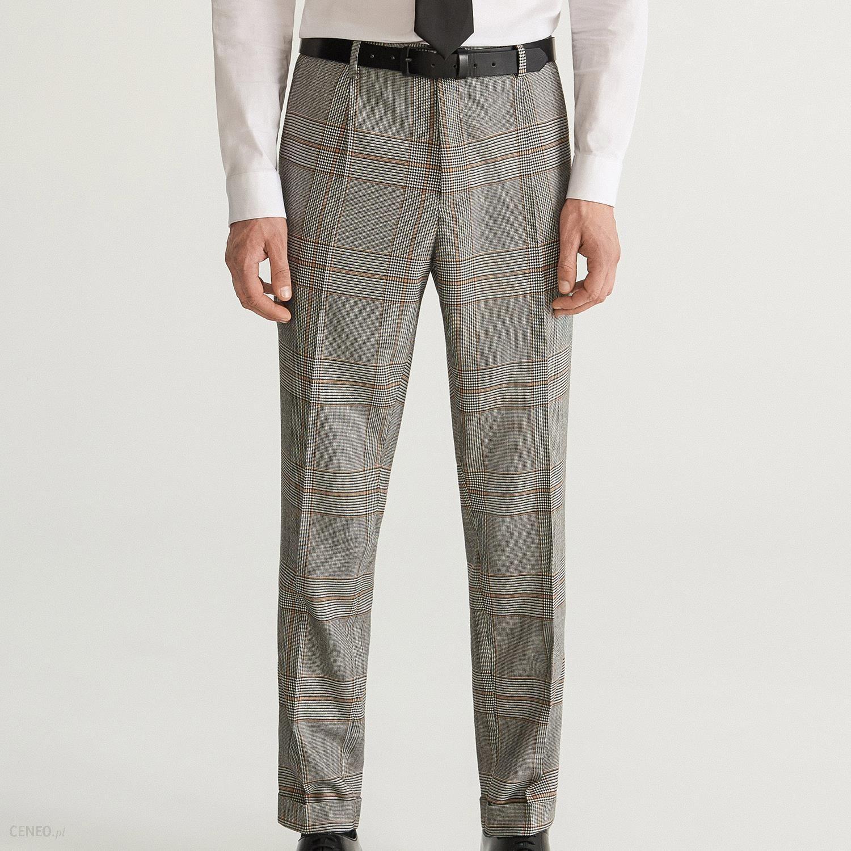 fd7fd6dceb266 Reserved - Spodnie garniturowe w kratę super slim fit - Jasny szar -  zdjęcie 1