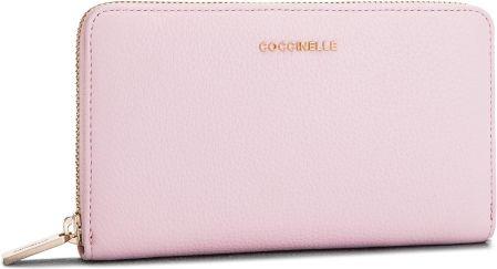 7886748f7c574 Duży Portfel Damski COCCINELLE - CW5 Metallic Soft E2 CW5 11 32 01 Graceful  Pink P04 eobuwie