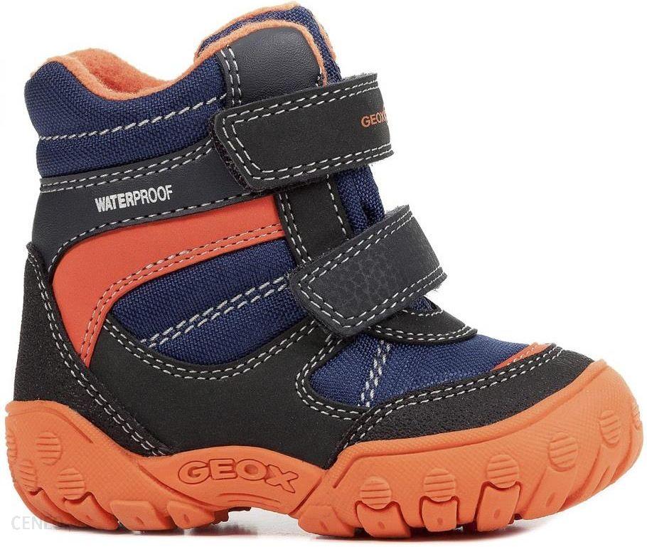 przystępna cena świetne ceny sprzedaż online Geox buty zimowe za kostkę chłopięce Gulp 20 niebiesko-pomarańczowe
