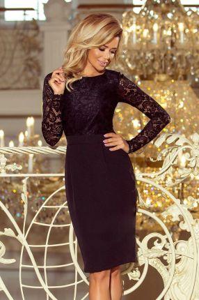 14df8929b2 180-3 Sukienka koronkowa z ozdobnymi wykończeniami - ZIELONA jasna ...