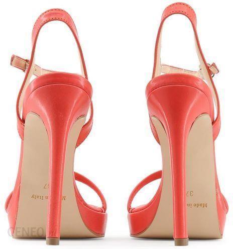 3b2ab6c645f4b6 Made in Italia skórzane sandały damskie szpilki czerwony 41 - Ceny i ...
