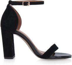 Sandały czarne zamszowe Arturo Vicci buty damskie z
