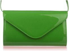 d362337b78448 kopertówka lakierowana z paskiem elegancka polska M78 Odcienie zieleni