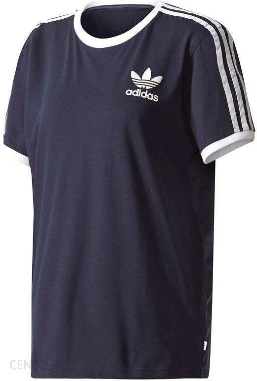adidas originals koszulka 3-stripes meska niebieska