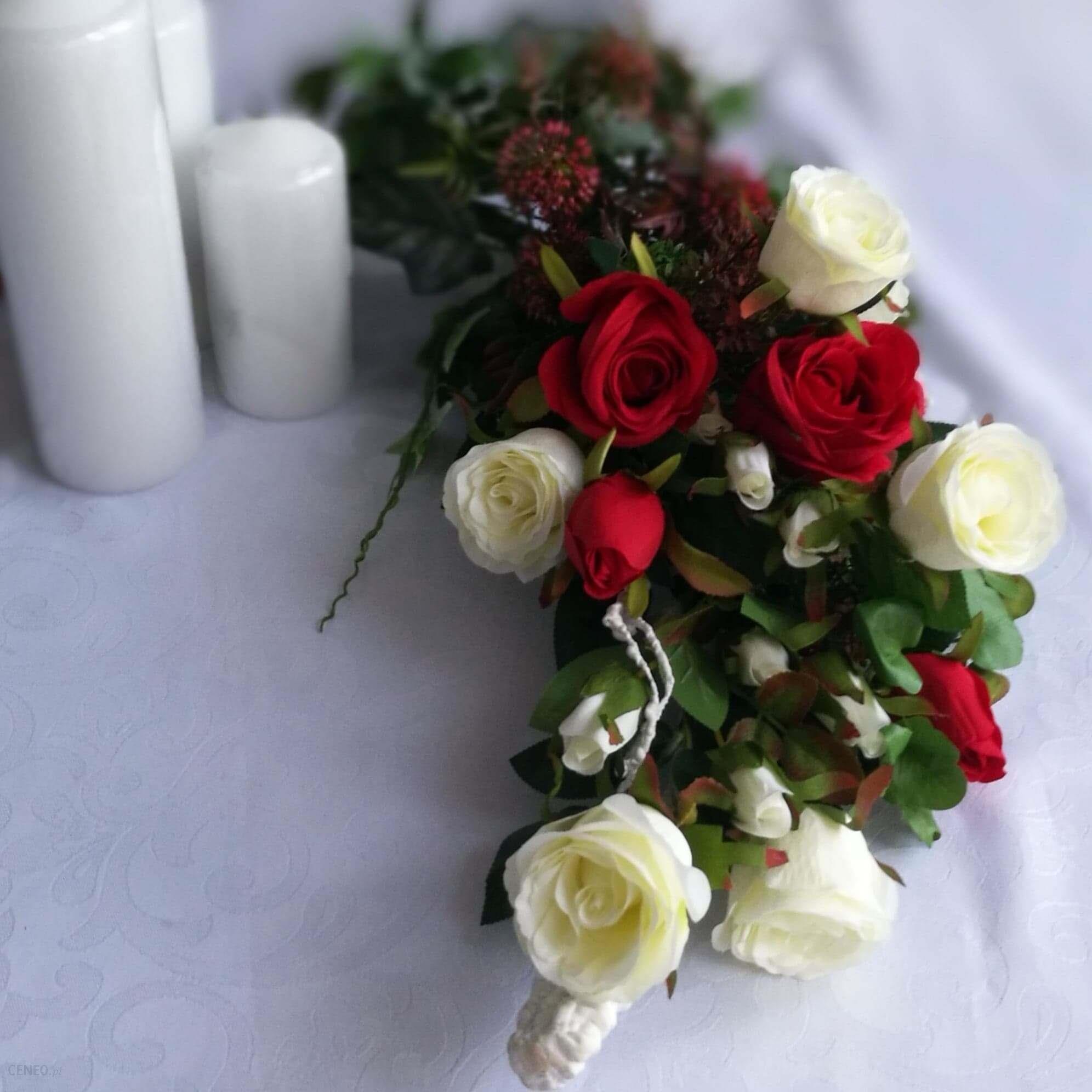 świąteczne Atelier Stroik Na Cmentarz Z Różami 16928 Ceny I Opinie Ceneopl
