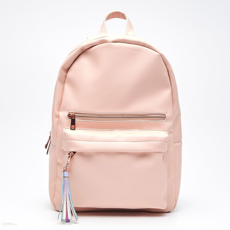 afd4499dba6ec Cropp - Plecak z eko skóry z kontrastową podszewką - Różowy - Ceny i ...