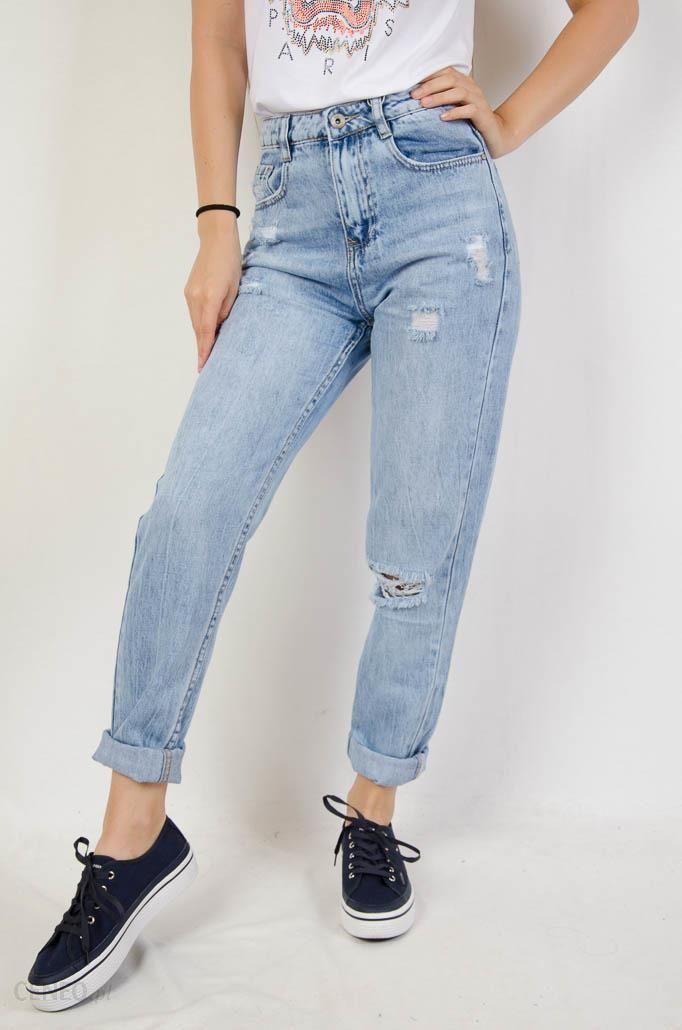 Spodnie Jeansowe Typu Boyfriend Z Przetarciami Olika Ceny I Opinie Ceneo Pl