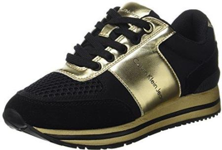 2cd27158 Amazon Calvin Klein damskie mahaprabhu Suede/Nylon/metal Smooth Sneaker -  wielokolorowa - 39