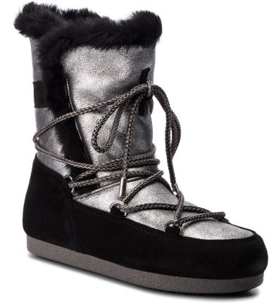 1c2db397b1ef9 Śniegowce MOON BOOT - Far Side High Shear 24200700003 Argento Nero eobuwie