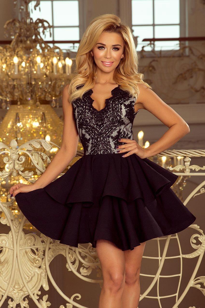 94ecd5b57f Elegancka Sukienka Aurora Wesele - Czarna Xs - Ceny i opinie - Ceneo.pl