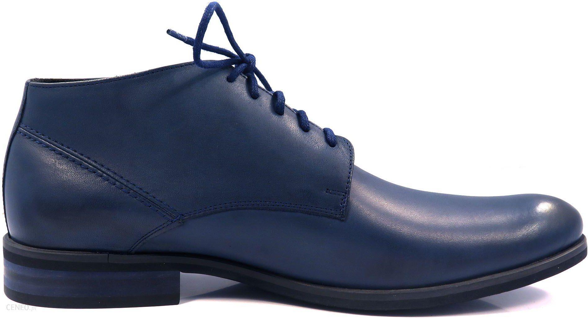 78dec00d Granatowe eleganckie męskie buty zimowe T65 - Ceny i opinie - Ceneo.pl