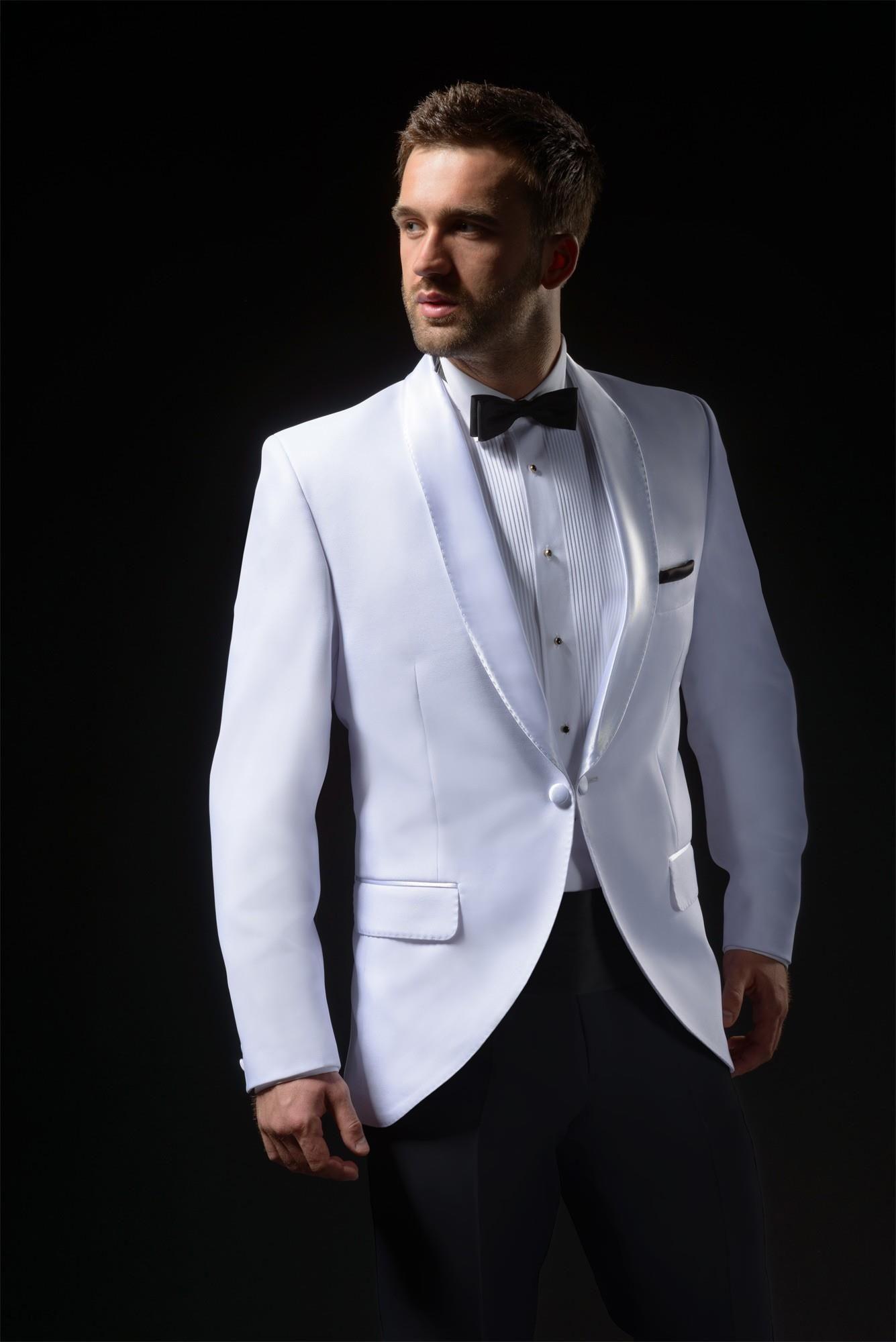 6feb55159cb1f Biały smoking tropikalny - dinner jacket - Ceny i opinie - Ceneo.pl