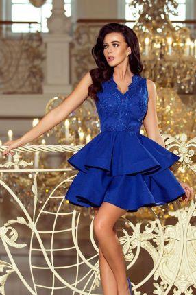 2f1db627b5 Elegancka Sukienka Aurora Wesele- Chabrowa XL Allegro