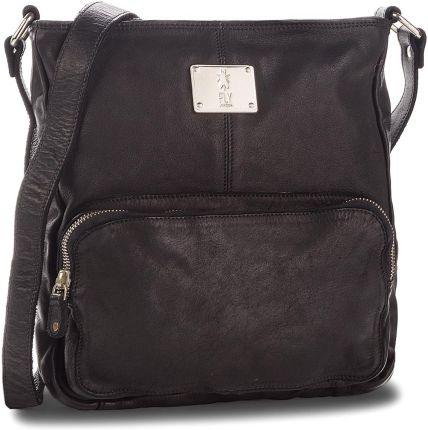 84a0a6416f347 Skórzana torebka listonoszka Made in Italy Granatowa (kolory) - Ceny ...