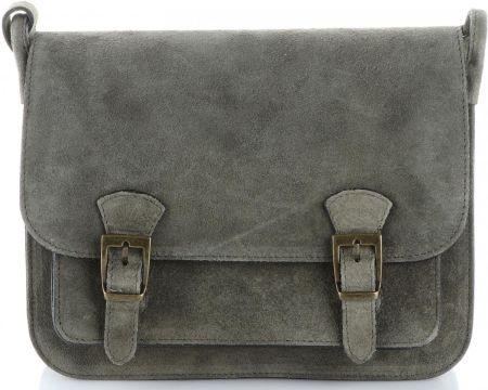f1a12267e8934 Torebki Listonoszki Skórzane Genuine Leather Szaro-Zielona (kolory ...