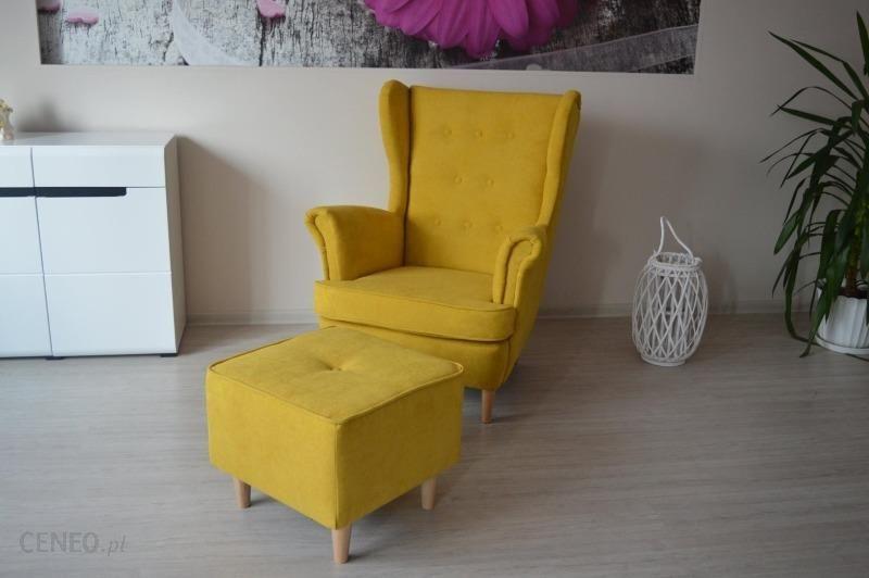 Marinex Comfortstyle Fotel Uszak Zestaw Z Podnóżkiem żółty