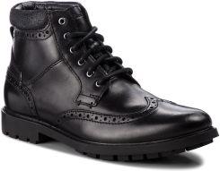 c8224feb64118 Kozaki CLARKS - Curington Rise 261368537 Blk Smooth Leather eobuwie