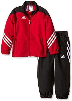 f5e427fb3824a7 Amazon adidas Sere14 pre Y strój sportowy dziecięcy: bluza i spodnie,  czerwony