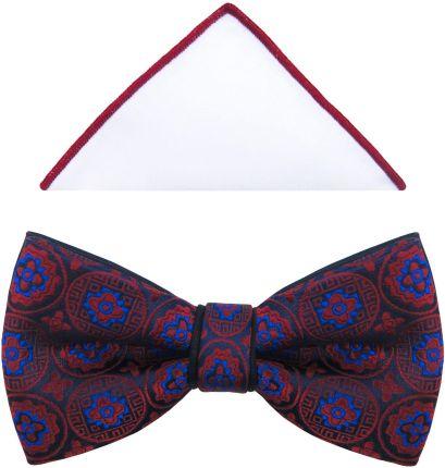 f3bfabb9483c7 ... Calvin Klein TREND SLIM Krawat grey. Modini Moda Męska Granatowa Mucha  Z Bordowym Ornamentem A219