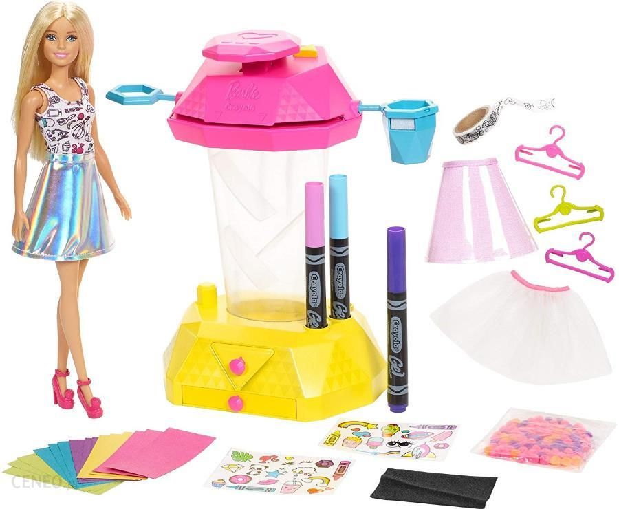 bd031aa4d Lalka Barbie Lalka Crayola Zrób To Sama  Studio Konfetti Frp02 - zdjęcie 1
