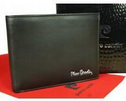95f439a788a3a Klasyczny męski portfel ze skóry naturalnej poziomy pierre cardin pc050  czarny
