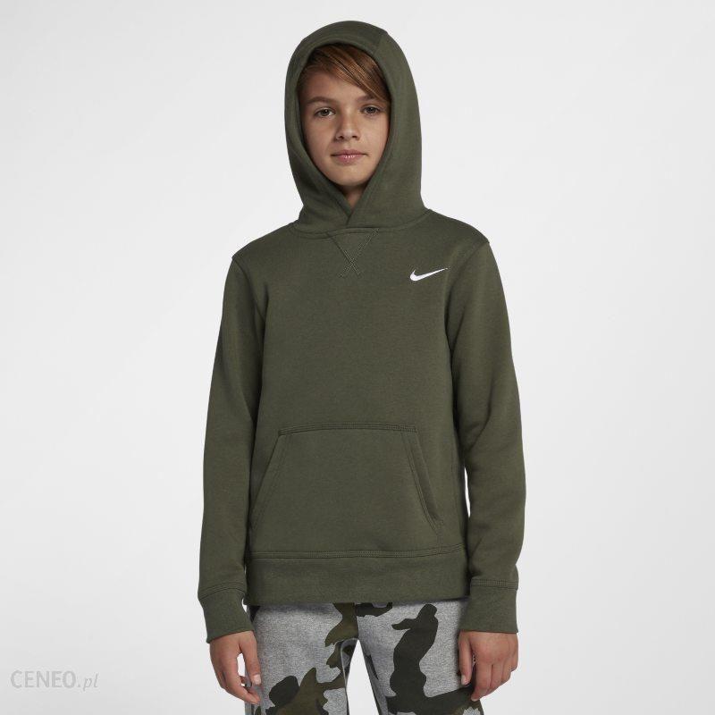 Chłopięca bluza z kapturem Nike YA76 Brushed Fleece Pullover (8–15 lat) Szary Ceny i opinie Ceneo.pl