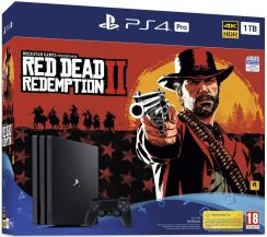 Sony PlayStation 4 Pro 1TB Czarny G Chassis + Red Dead Redemption 2