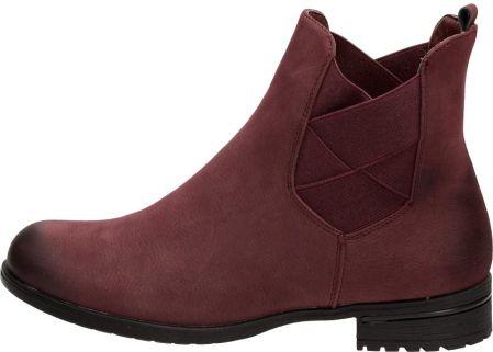 6e513db6c0d9e Podobne produkty do Tamaris buty za kostkę damskie 36 burgund. Bordowe  sztyblety, botki damskie S.Barski 3151
