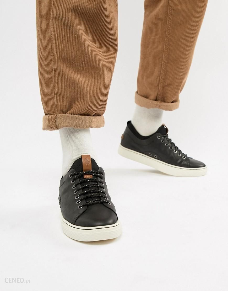 Polo Ralph Lauren dunovin leather sock trainers in black Black