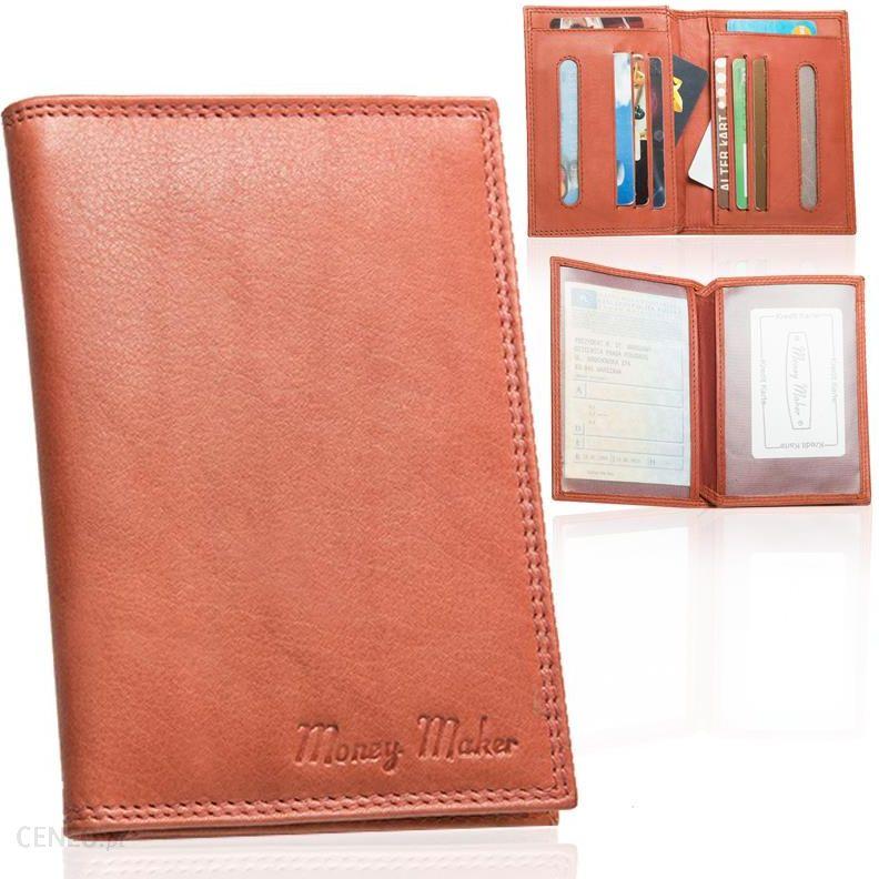 32bf2335e0554 Skórzane etui dokumenty karty wizytówki skóra duże - Ceny i opinie ...