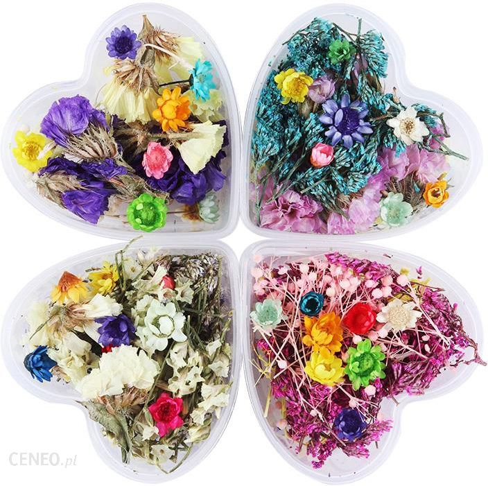 Aliexpress Mieszane Suszone Kwiaty Nail Art Dekoracje Zachowane Kwiat W Kształcie Serca Pudełko Manicure Porady Dekoracje Diy Akcesoria Do Paznokci
