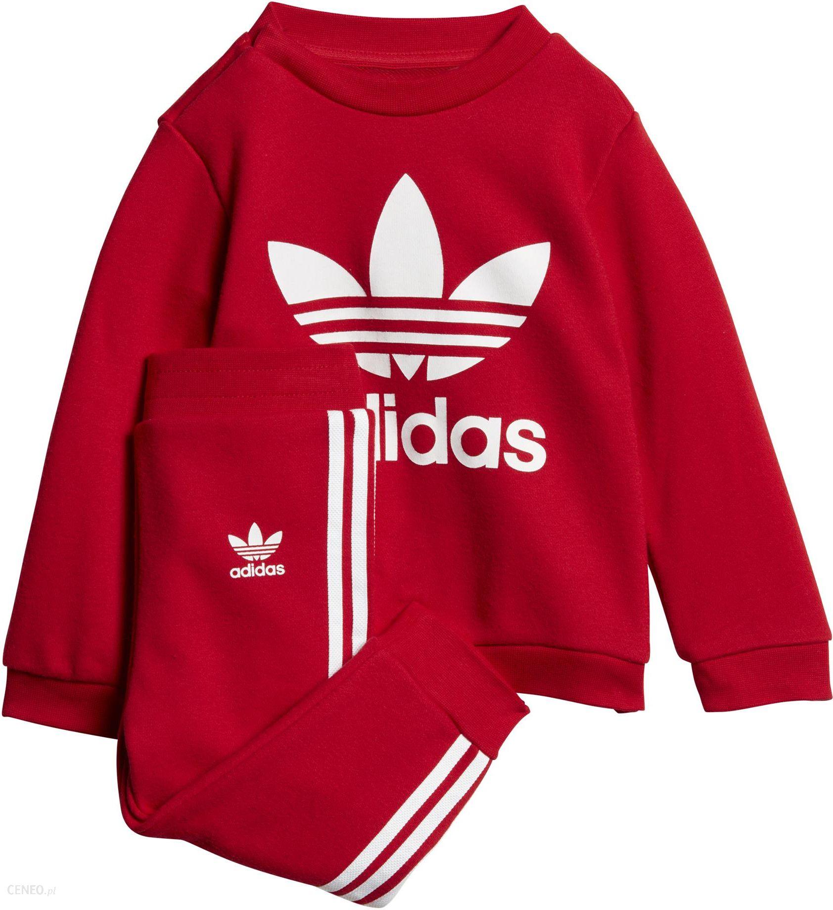 czerwony dres adidas damski komplet