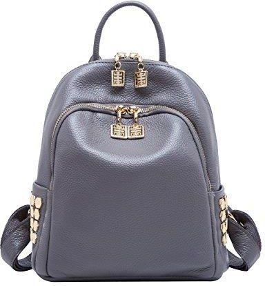 bf49432416ddb Amazon boyatu Womens prawdziwą skórą plecak Mini torba podróżna torba na  ramię z elegancko Daypack