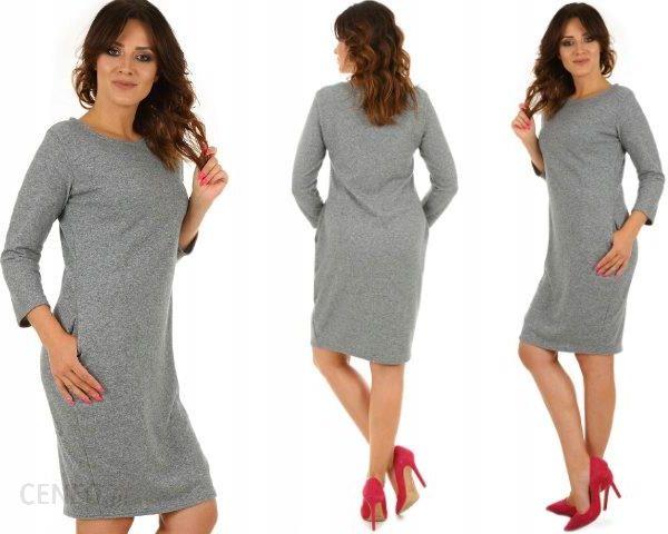 e58470a3a0 F328 Sweterkowa Sukienka kieszenie Tuba rozm. L XL - Ceny i opinie ...