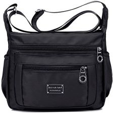 8f79265686b7c Amazon tibes moda damska Nylon torba na ramię wodoszczelna Cross Body torba  podróżna mała torba na