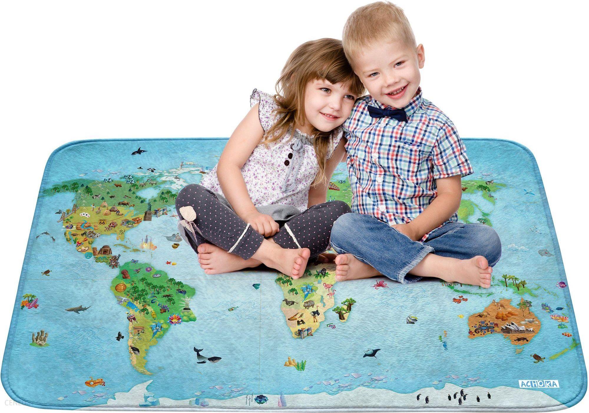 Hok Dywan Dziecięcy Mapa Świata 100x150Cm
