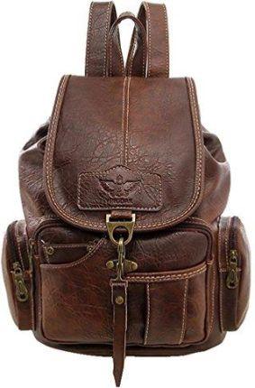 20f93aaa1cbfb Amazon Damski plecak retro dziewczęcy skóra PU plecak rekreacyjny plecak  szkolny vintage plecaki dzienne torby na
