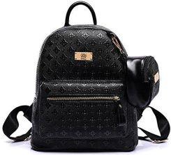a29ce904dd413 Amazon Plecak z wytłoczonej skóry PU dla kobiet podróż plecak dziewczęcy  plecak szkolny damski plecak dzienny