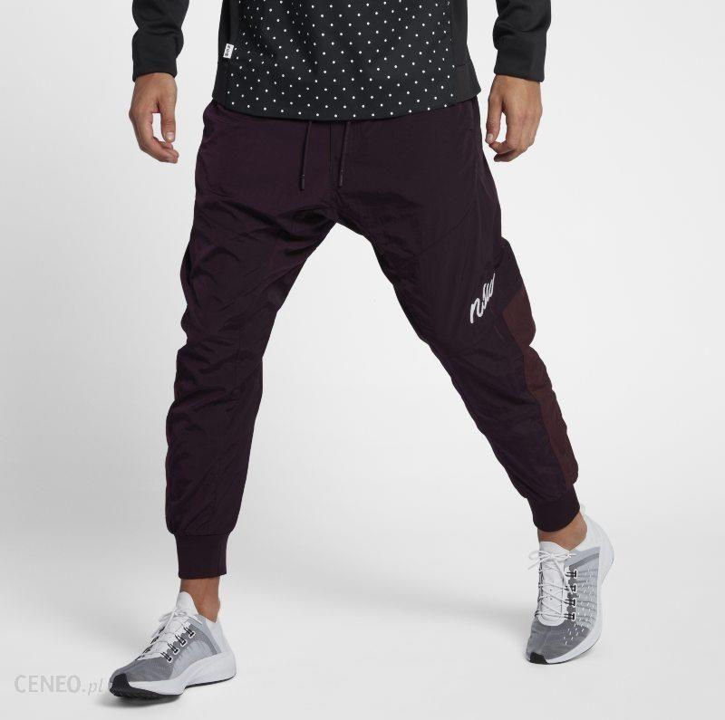 Tkane spodnie męskie typu jogger Nike Sportswear NSW Czerwony Ceny i opinie Ceneo.pl