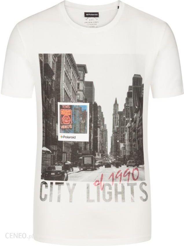 33246cc27 Jack & Jones, T-shirt z nadrukiem Polaroid KoŚĆ SŁoniowa - Ceny i ...