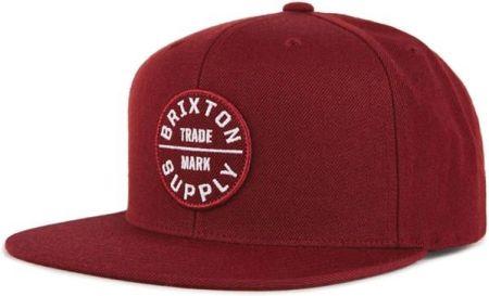 5d16347341fe czapka z daszkiem BRIXTON - Oath Iii Snapback Burgundy Burgundy (BUBUG)