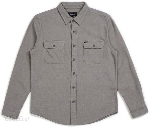 Koszula BRIXTON Bowery Solid LS Flannel Grey (GREY  qfqGe