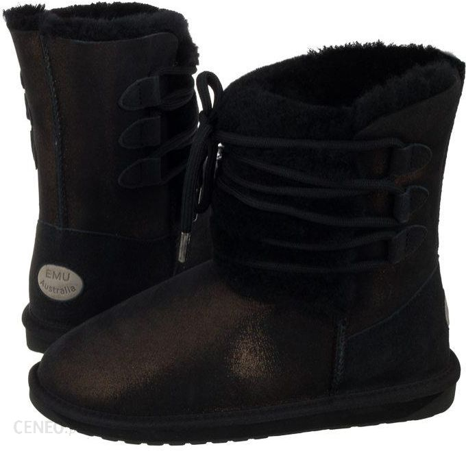89a2d853702d1 Buty EMU Australia Sorby Black Metallic W11789 (EM271-b) - Ceny i ...